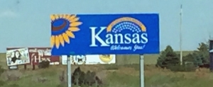 Hello Kansas.  Hmmm, Kansas is blurry.  I swear we didn't stop at that store..