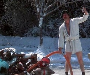 Cousin Eddie in the movie National Lampoons Christmas Vacation.  I am going to buy Travel Dave that outfit..